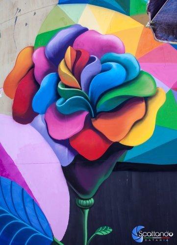 La Bella di Bellini - Street Art Silos - Catania