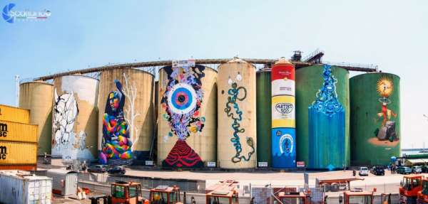 Fuga di Ulisse da Polifemo - Street Art Silos - Catania
