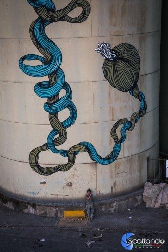 Il moto perpetuo di Scilla e Cariddi - Street Art Silos