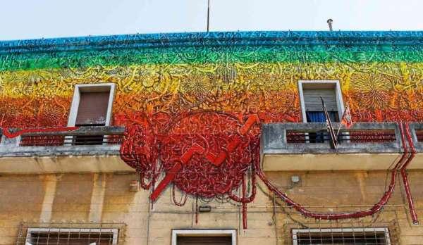 L'artista di Senigallia lascia il suo segno anche a Lecce