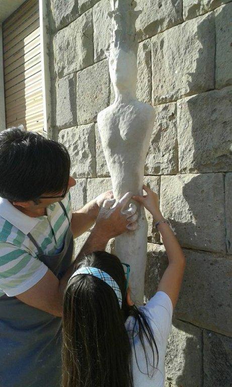 Segnali di donna - Scultura a San Sperate