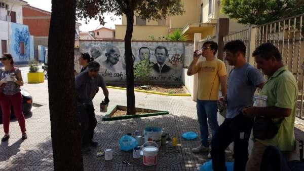 San Sperate: L'iniziativa Diamo un tocco di colore