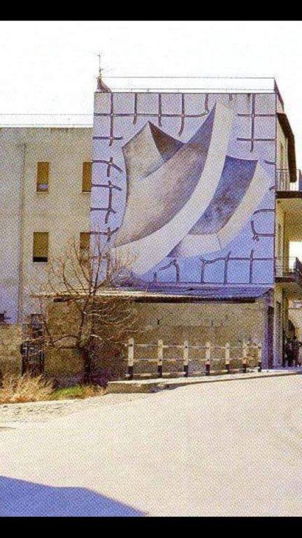 I 4 bronzetti sardi - Il grande murale di Piazza New York