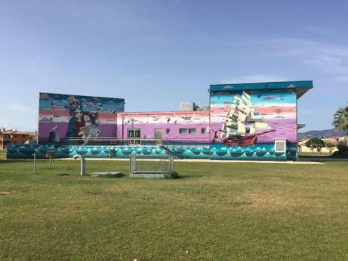 Ainnantis - Grazie a Nieddittas, un murale per la comunità