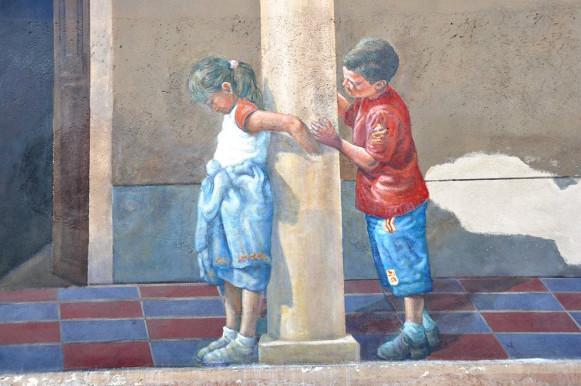 Il loggiato, Asilo delle suore - San Sperate - Sardegna