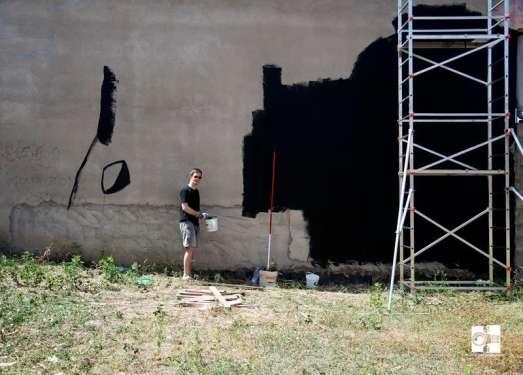 Masso nero - contributo per Il muro d'Europa