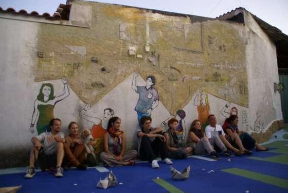 Autoritratti - Murale realizzato dagli studenti ungheresi
