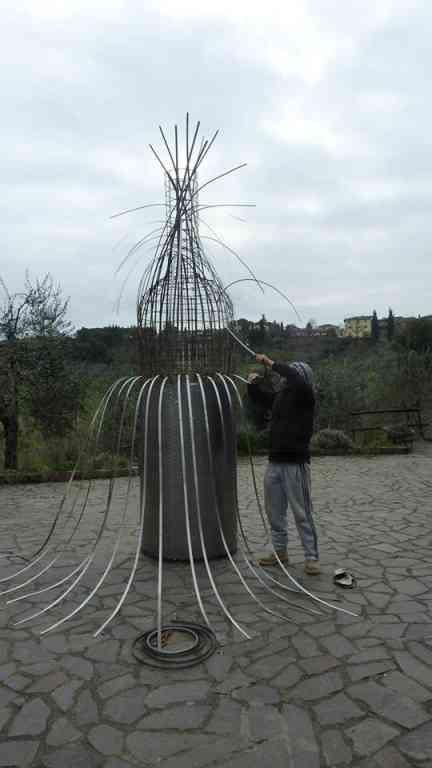 Dissetato, installazione in ferro - San Sperate - Sardegna
