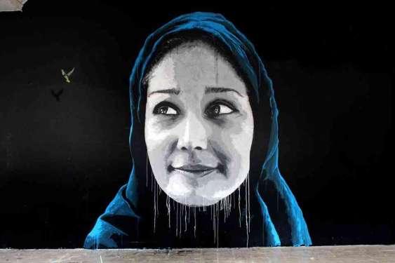 Syrian Woman Hope - Castel Gandolfo Street Art Festival