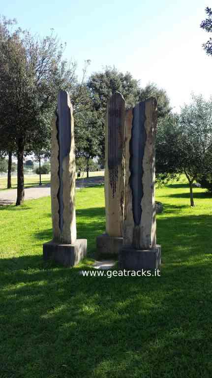 Sculture di Pinuccio Sciola - Monte Claro - Cagliari