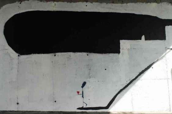 Qwerty lascia il segno anche nella Galleria Nomentana - Roma
