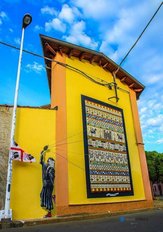 Tèssere - Un arazzo abbellisce San Gavino