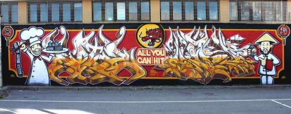 All you can HIT - la nuova geniale murata dei due writers