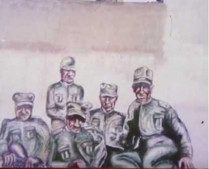 Armungia: restauro del murale dedicato alla Brigata Sassari