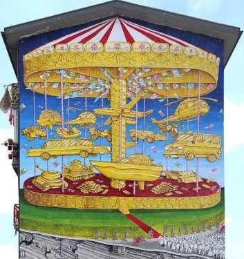 La Cuccagna - Grande murale di denuncia - Campobasso