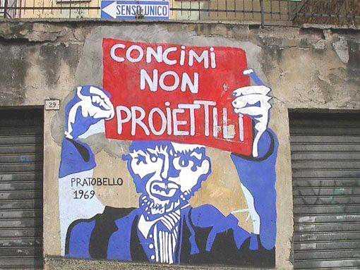 Orgosolo: un murale per commemorare uno storico incontro