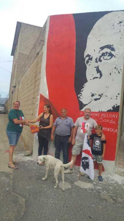 Orgosolo: tributo all'indipendentista sardo Doddore Meloni