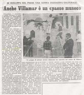 Villamar: murale simbolo della stagione artistica anni 70/80