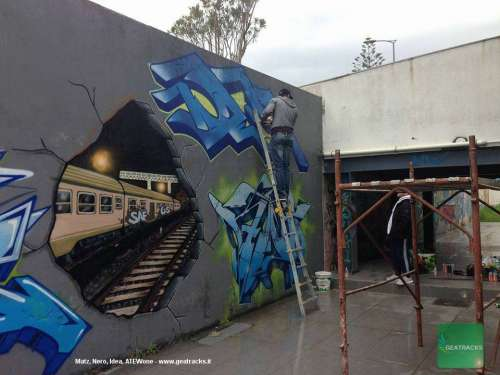THE GHOST YARD wall - Aprile 2018 - Iglesias