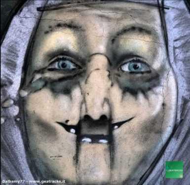 La donna anziana dipinta a Pirri - Sardegna