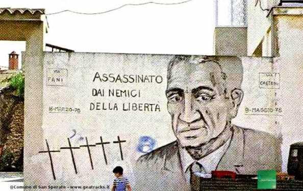 San Sperate:Storico murale in omaggio al leader DC Aldo Moro