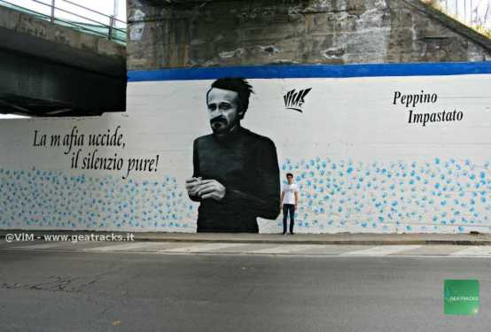 Catania: Un murale per ricordare Peppino Impastato