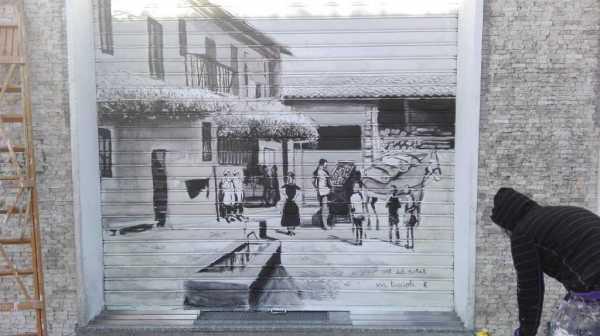 Affori: La cort del nobil - Serranda - Urban Art