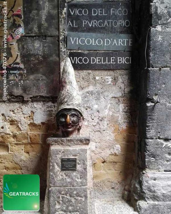 Il Pulcinella di Vico Fico del Purgatorio - Napoli