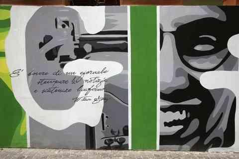 In memoria di Giancarlo Siani, streetart contro la camorra