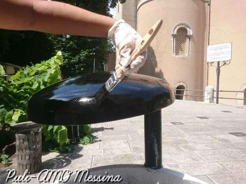 Cestini artistici a Largo San Giacomo - Messina - Sicilia