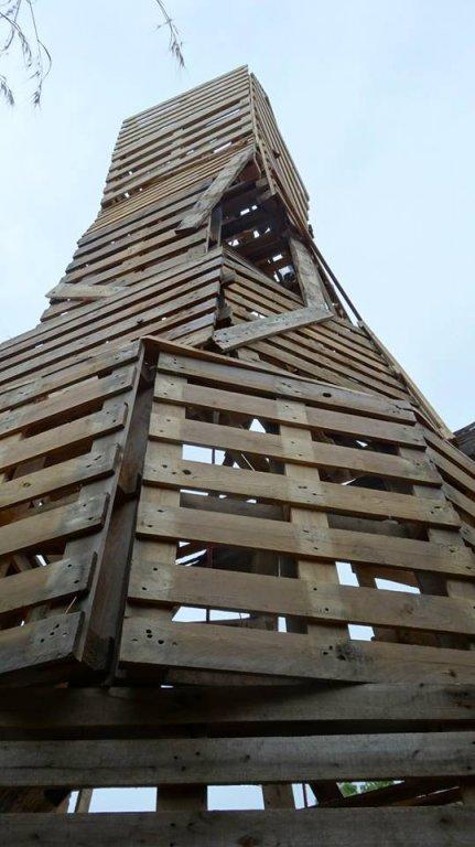 Torre di legno - contributo per Il muro d'Europa